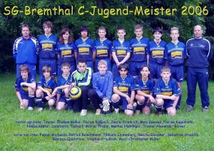 Fussball-Jungen-Mannschaft der SG Bremthal